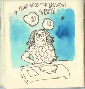 fried eggs for brekfast yumm